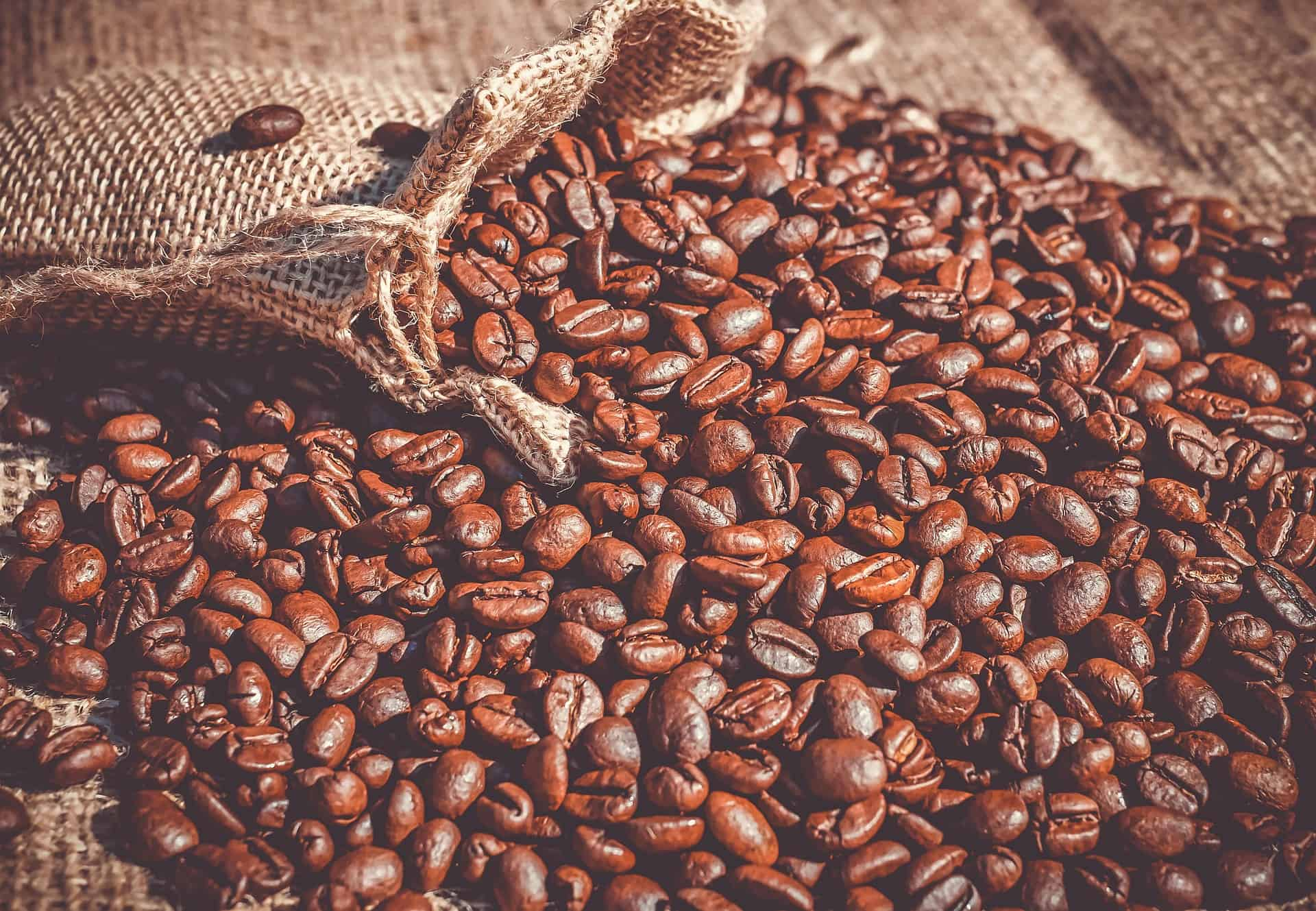 Coffee Beans with bag